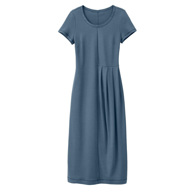 Jersey-Kleid, rauchblau  Kleider, Kleid mit ärmel, Modestil