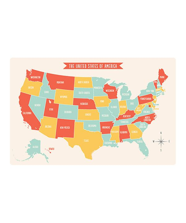 Another great find on #zulily! United States Place Mat by sarah + abraham #zulilyfinds