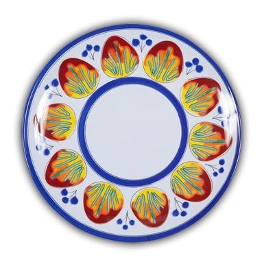 Picnic Allegria Dinner Plate. Heavy Duty Melamine With Italian Pattern And  Perfect For Outdoor Dining