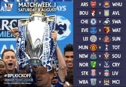 Premier League Calendario.Ukcalcio Premier League 2015 2016 Il Calendario Completo