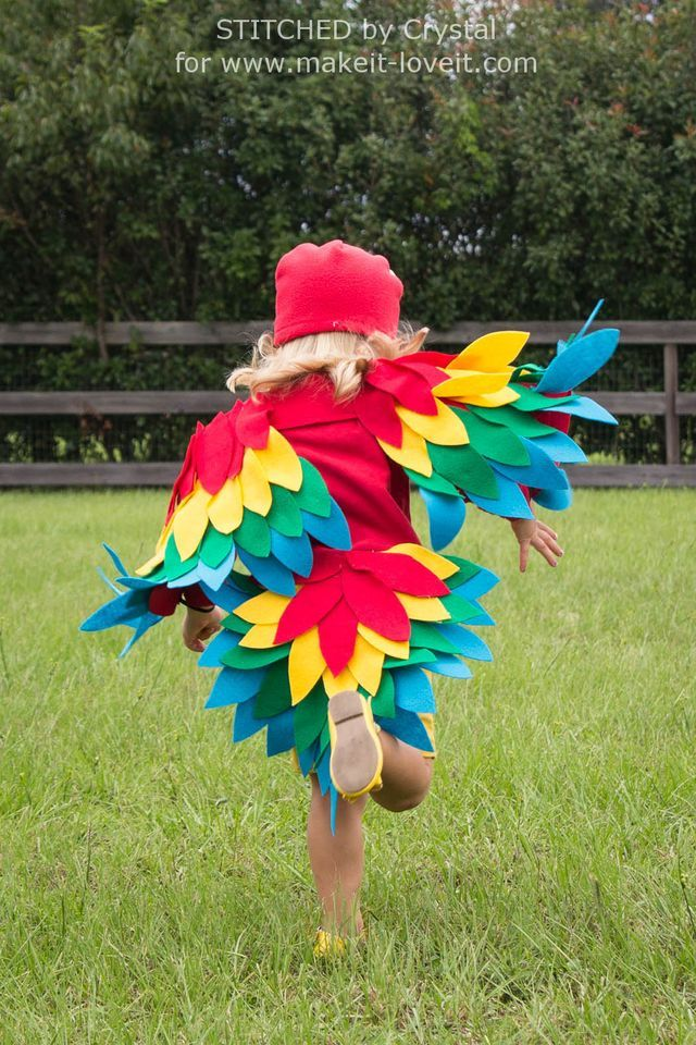 To kick off a REALLY fun couple months of HALLOWEEN COSTUMES, Crystal from Stitched By Crystal is sharing an absolutely darling costume that she made for her little girl! A vibrant fleece and felt PAR