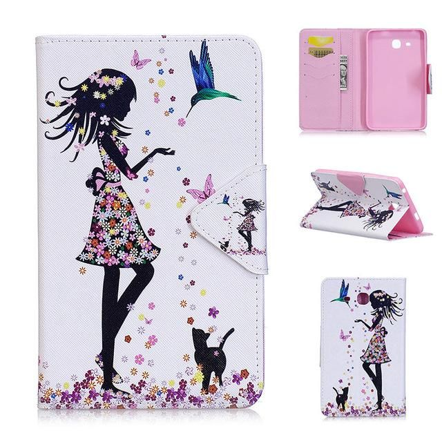 f468ccc1061 2016 Tab a6 7.0 Case For Samsung Galaxy Tab A 7.0 T280 T285 SM-T280 Case  Cover Tablet Fashion Painted Flip Leather Funda Shell