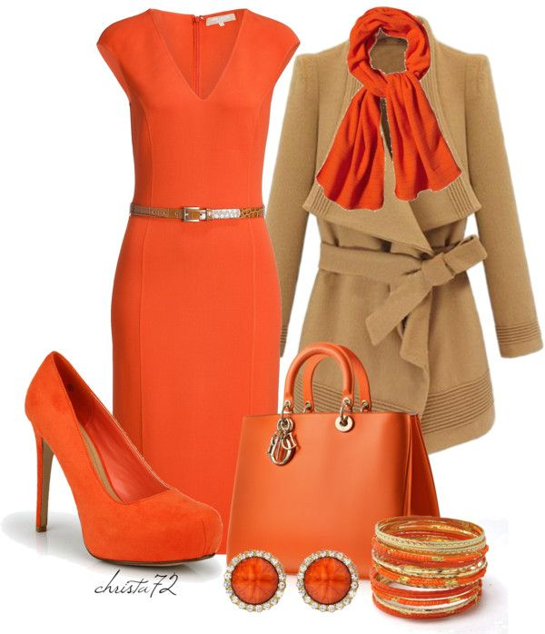 """Outrageous Orange"" by christa72 ❤ liked on Polyvore"