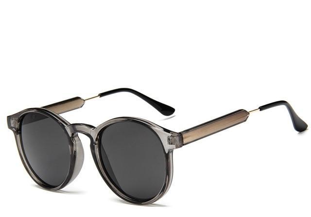 Retro Round Sunglasses Women Men Brand Design Transparent Female Sun  glasses Men Oculos De Sol Feminino 63c9ee2393