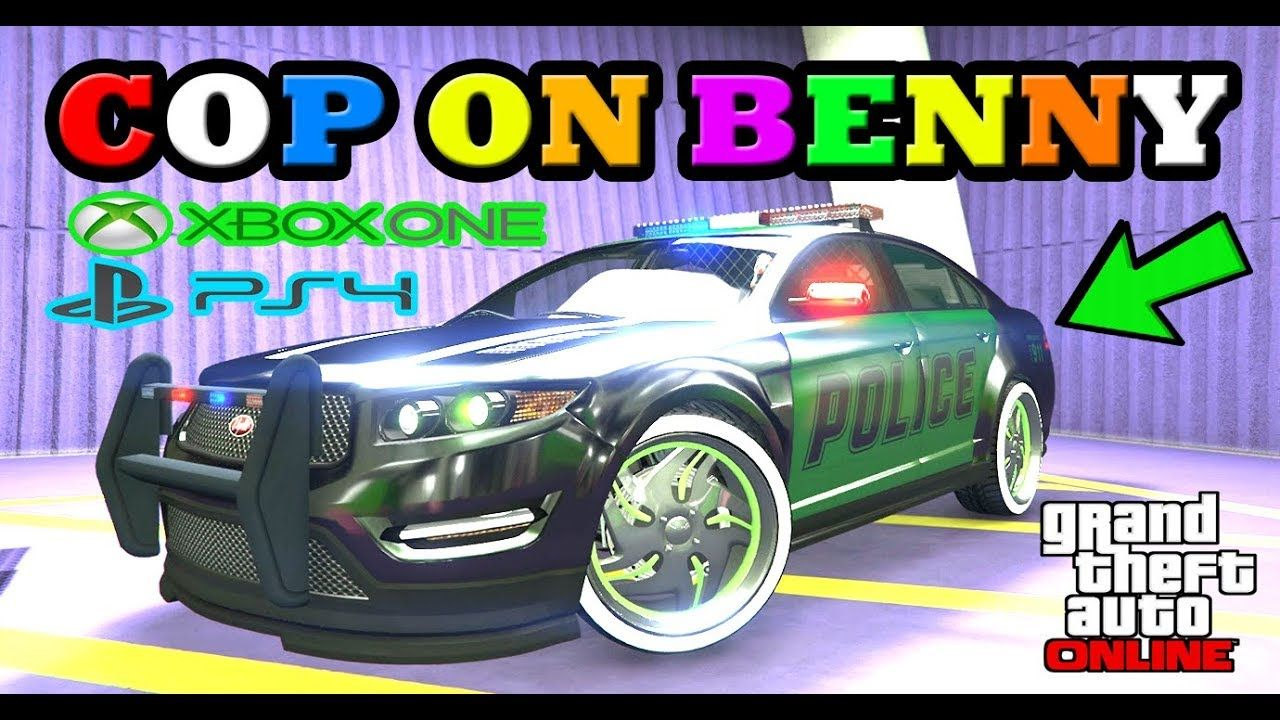 Xbox 1 Ps4 Put Benny Wheels On A Cop Cars Rcv More In Gta Online Gta V Modded Police Gta Online Gta Police Cars
