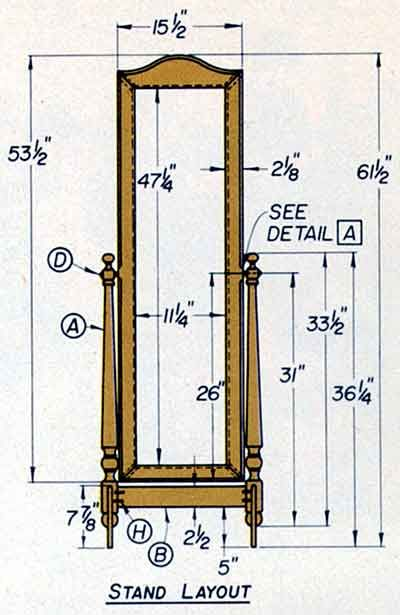 Cheval Mirror Design Plans From, Jewelry Armoire Design Plans