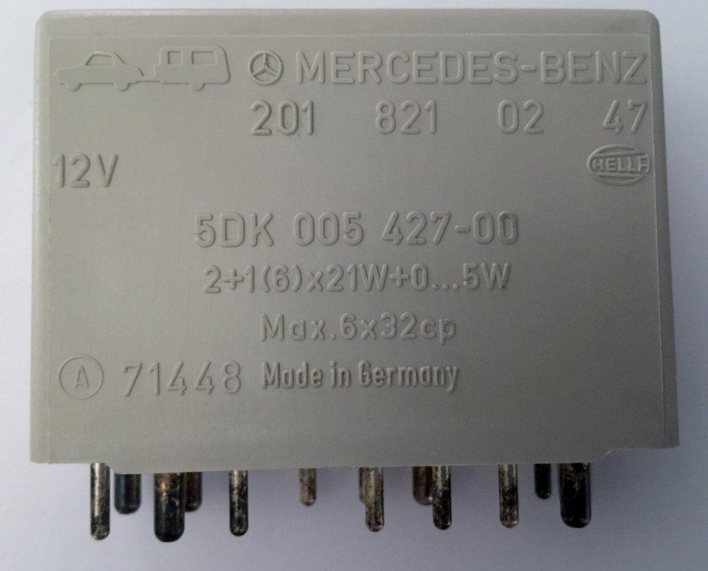 NEW ORIGINAL MERCEDES BENZ, GERMANY. MULTI PURPOSE TURN-SIGNAL HAZARD  RELAY. PARTS