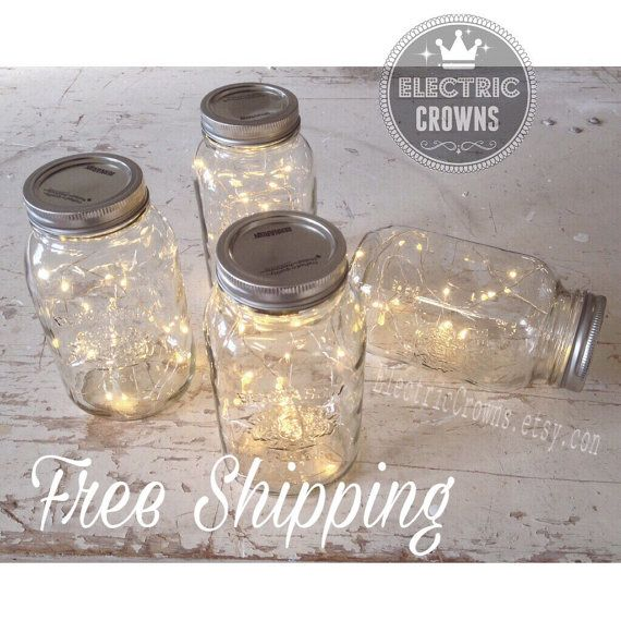 Hochzeitsdekorationen, Herbsthochzeit, Märchenlicht, Maurer-Jar Lights, Firefly Lichter, Rustic Wedding Decor, Firefly Jar Leuchten, Batterie * kein Glas #fallweddingideas