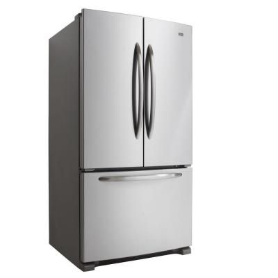 Maytag 24 8 Cu Ft French Door Refrigerator In Monochromatic