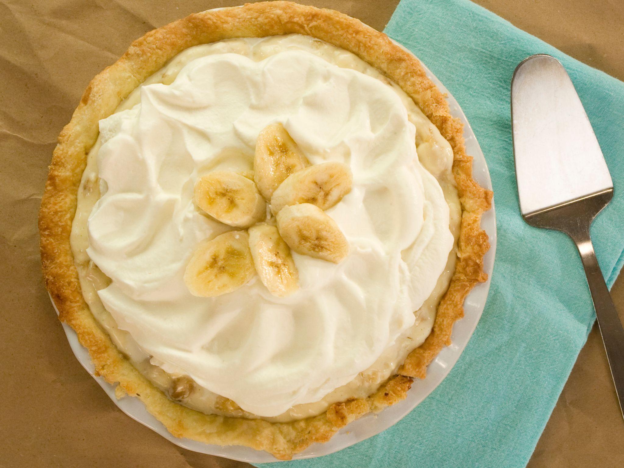 Banana Caramel Cream Pie recipe from Food Network Specials via Food Network