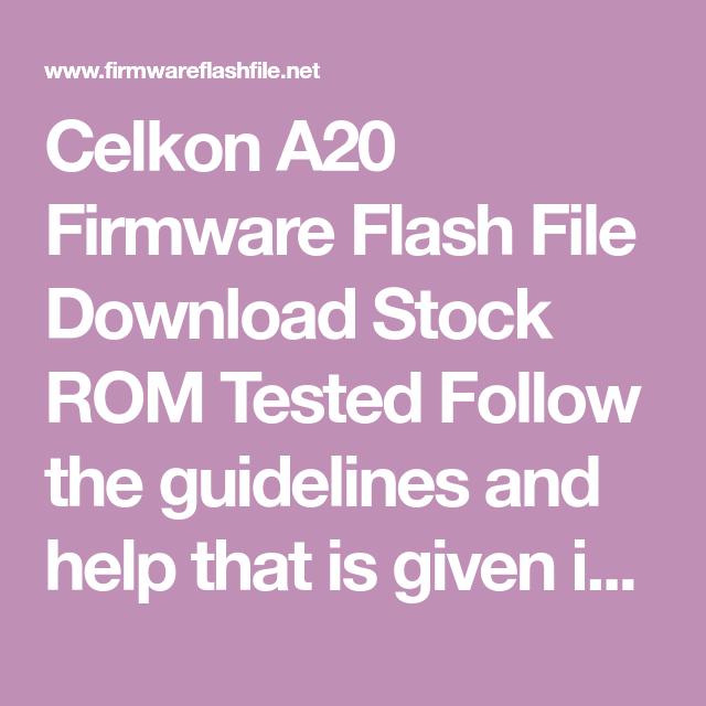 celkon a20 flash file