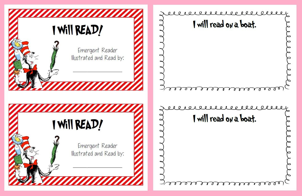 Seuss Inspired Shared Reading Printables