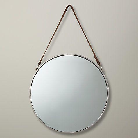 Bathroom Mirror John Lewis round hanging mirror, dia.38cm | hanging mirrors, john lewis and