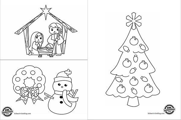 Dibujos navideños para colorear   Printing