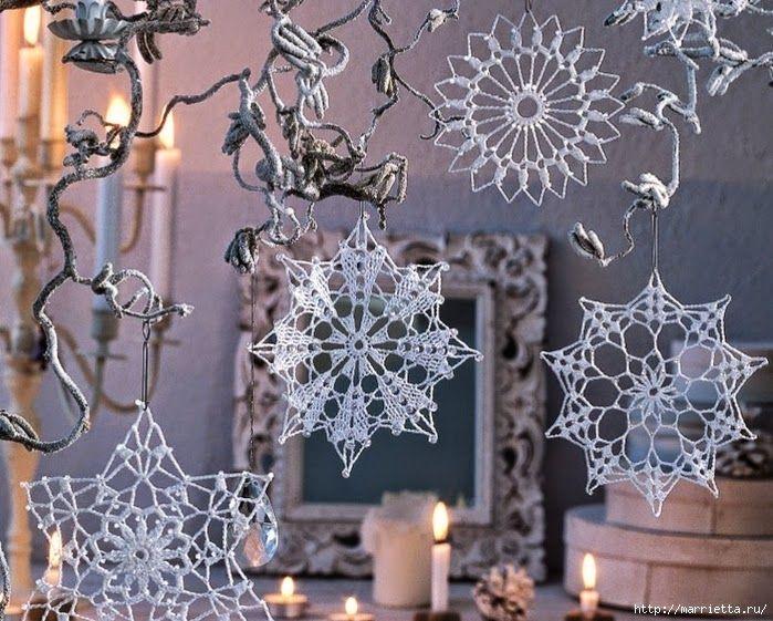 Todo crochet: Estrellas para decorar en navidad - al crochet con ...