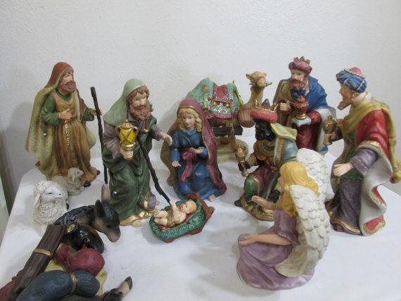 Nativity 12 Piece Porcelain Home Interior 8 5 Inches Original Sets Interiors Donkeys