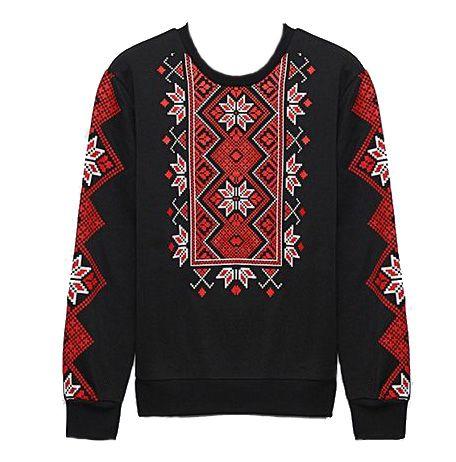 Ukrainian vyshyvanka sweatshirt