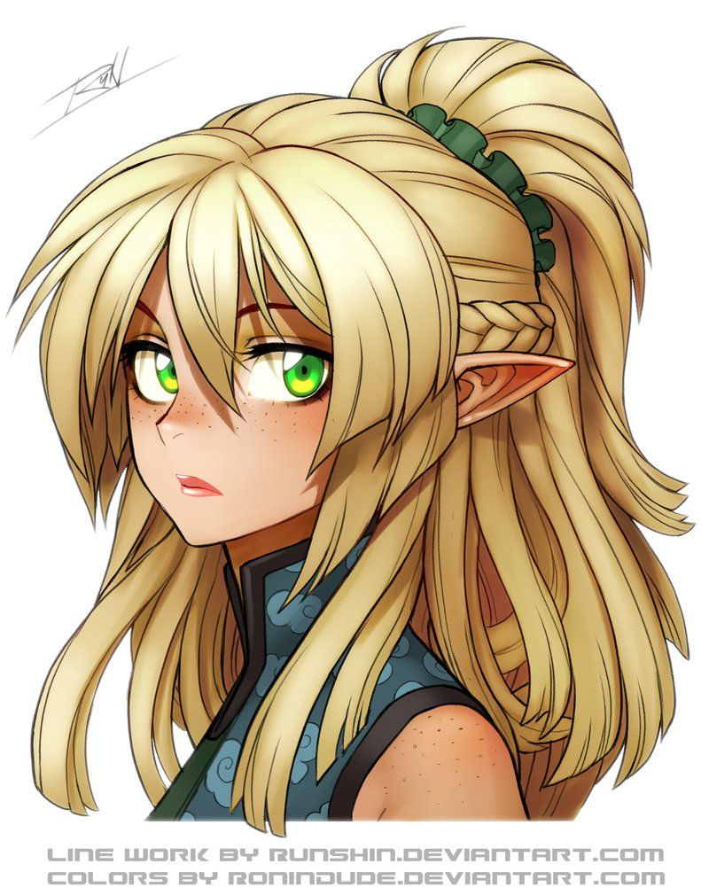 Art Collab Ellie By Ronindude Female Cartoon Characters Cute Anime Character Cute Kawaii Girl