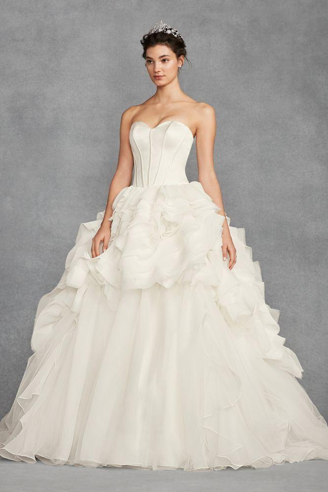 White By Vera Tiered Organza Wedding Dress