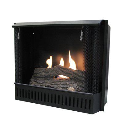 Paramount Gf Insert Gel Fuel Fireplace Metal Fire Box Real Heat