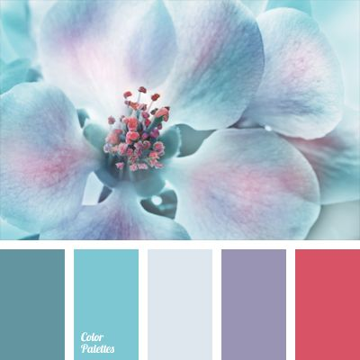 Cool saturated blue teal purple cerise red The color balance colour colore  farbe palette- love the color combo