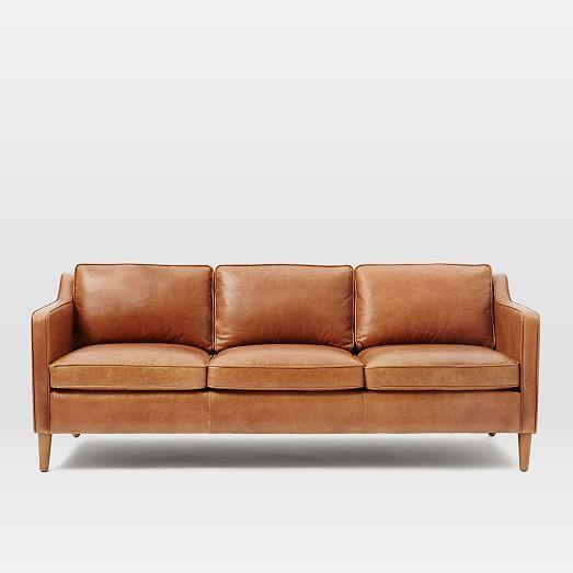 Hamilton Leather Sofa 81 Quot Leather Sofa Living Room Tan