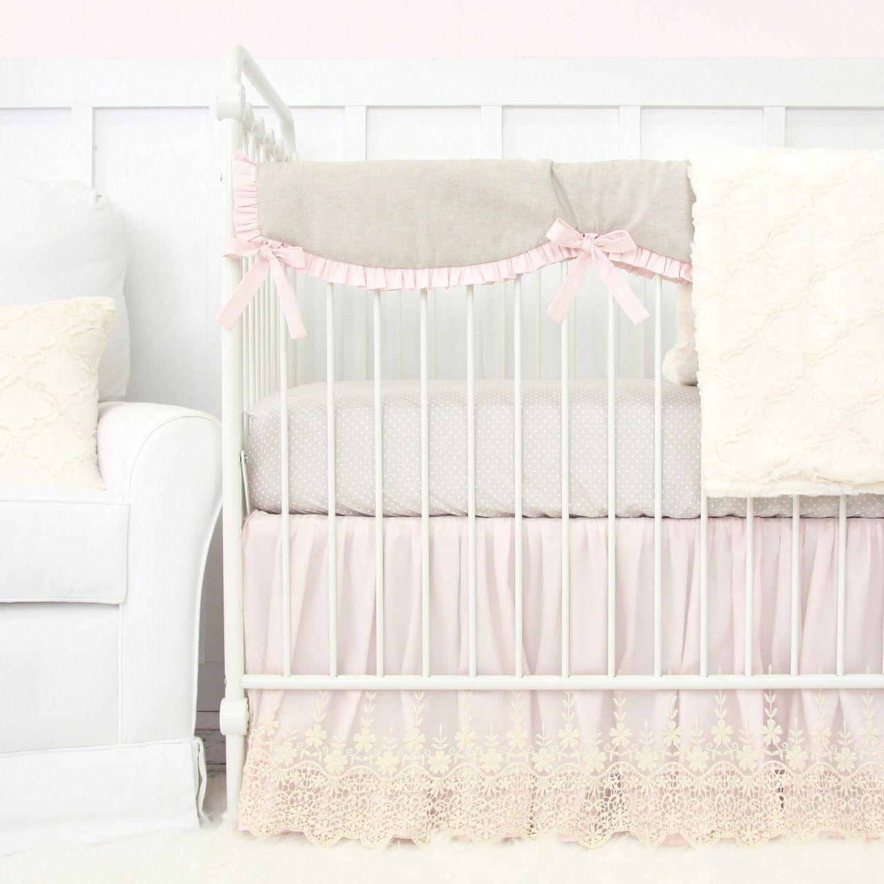 Caden Lane Baby Bedding Victoria S Vintage Pink Linen
