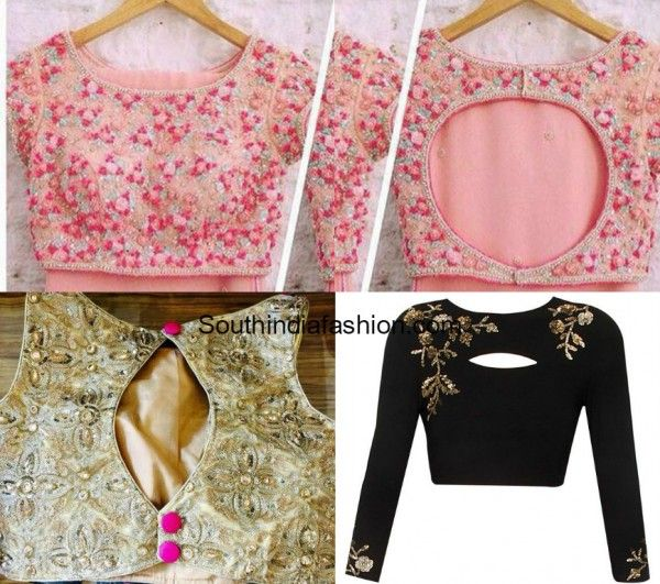 Hot Trend Crop Tops South India Fashion Blouse Tops Designs Crop Blouse Designs Blouse Design Images