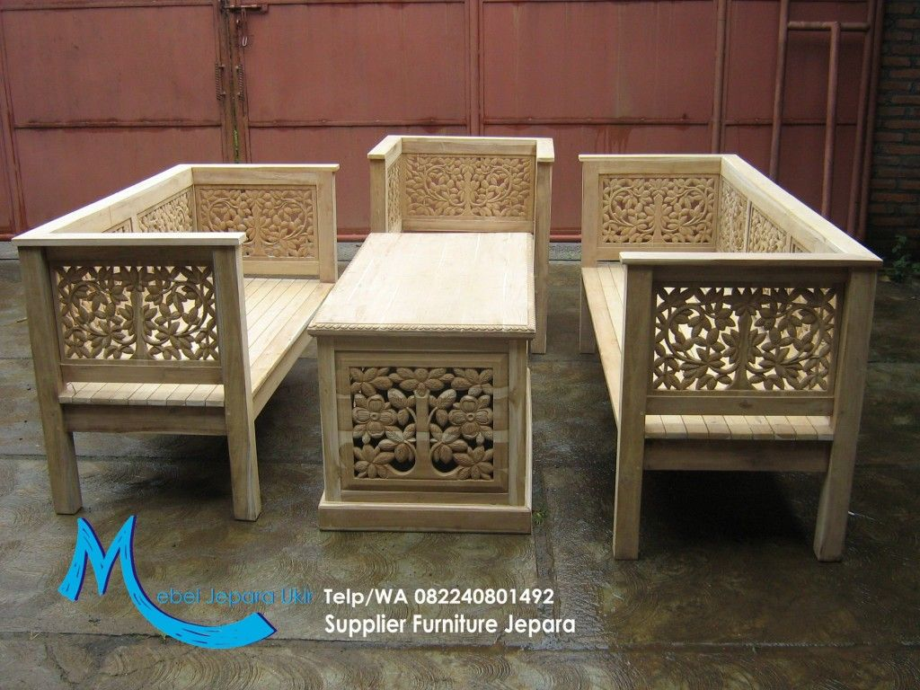 Kursi Tamu Jati Ukir Kalpataru Mec Pinterest Wood Furniture  # Muebles Wonderfull