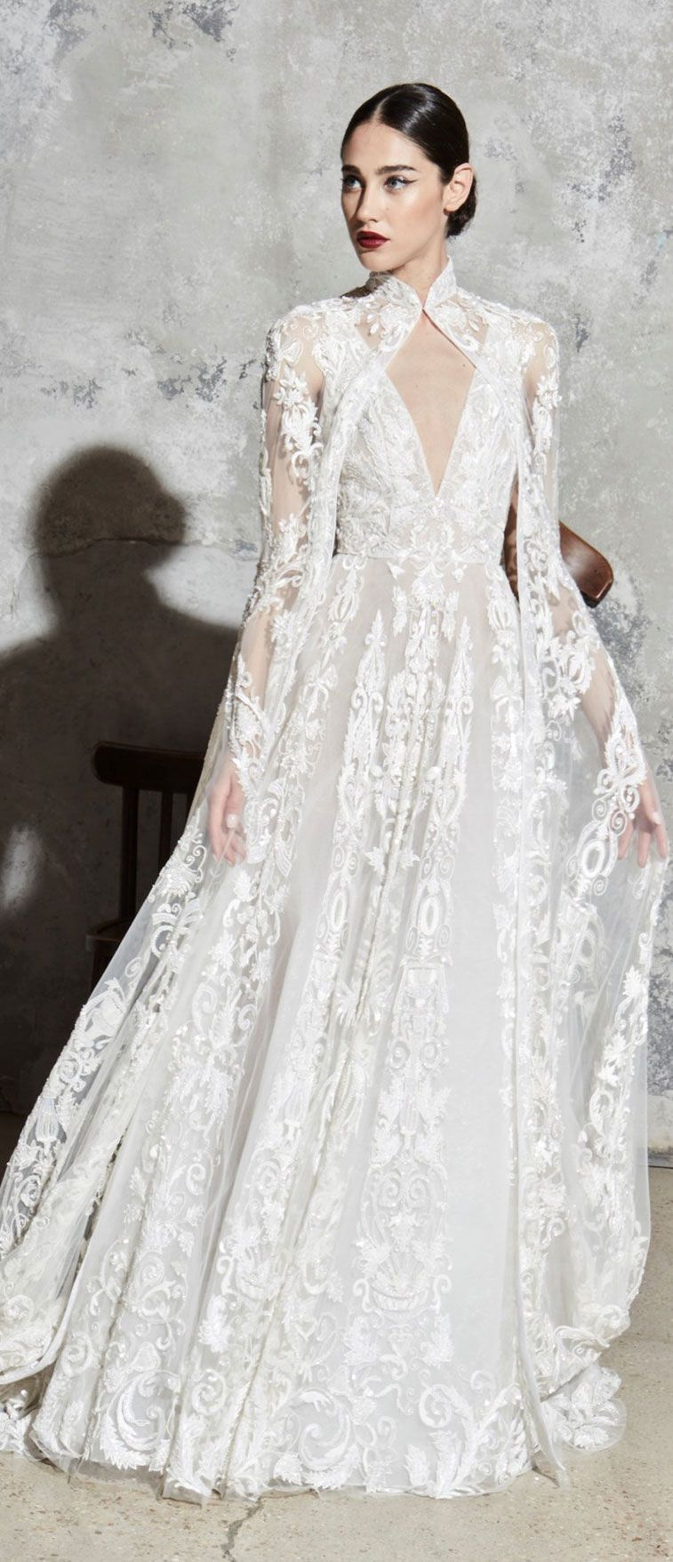 Wedding dresses with cape for elegant brides (With images