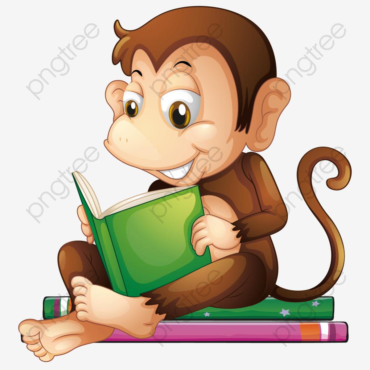 Vector Reading Monkeys Monkey Clipart Vector Read A Book Png Transparent Clipart Image And Psd File For Free Download Monkey Illustration Cute Monkey Kids Reading Books