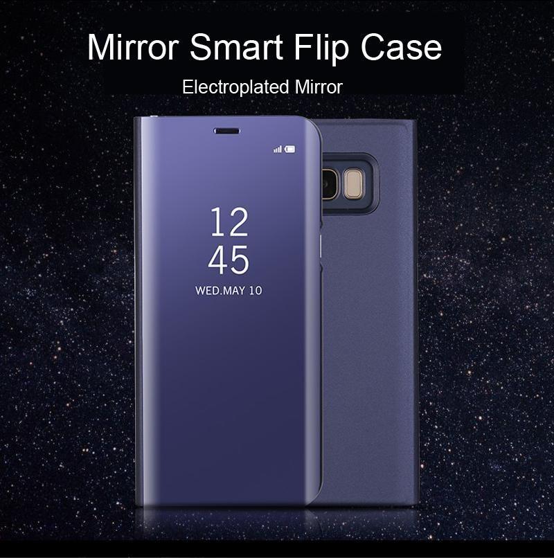 Mirror Flip Case For Samsung Galaxy A3 A5 A7 2017 PU ...