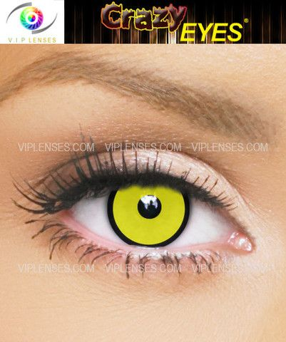 Crow contact lenses are good for Halloween as they stand out in all lighting conditions GLaDOS cosplay maybe?