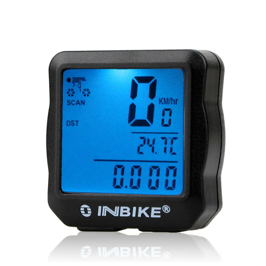 INBIKE LCD Wireless Wired Bicycle Computer Stopwatch Speedometer Speed Tracking