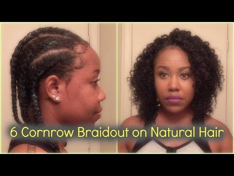 Cornrow Braidout On Natural Hair Perfect For Transitioning