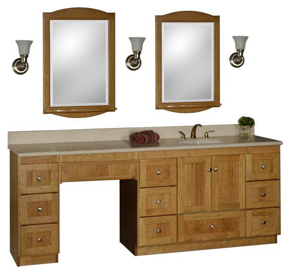 bathroom vanity with makeup vanity