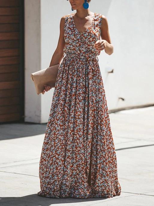 Bohemian Cotton-print Holiday Maxi Dress 3