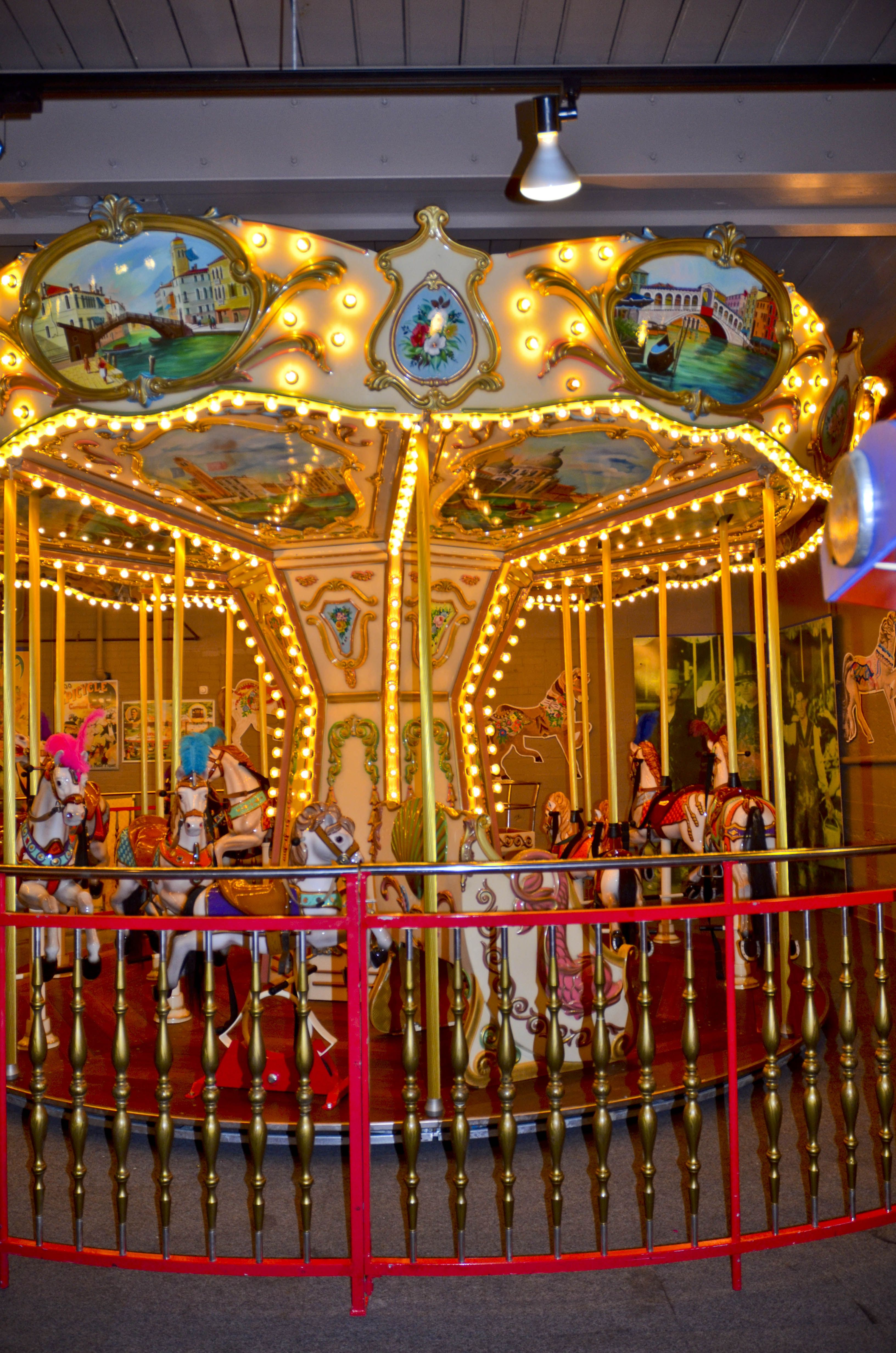 New England Carousel Museum 95 Riverside Ave., Bristol, CT 06010. (860) 585-5411. Fax: (860) 314-0483. Museum complex displays one of the largest collections of carousel art in the country, changing art shows and the Museum of Fire History on 2nd floor. Magical place for individuals and groups. Guided tours, group tours, facility rental, birthday parties, gift shop, and youth group sleepovers.