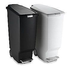 Image Of Simplehuman Slim Plastic 40 Liter Step On Trash Can