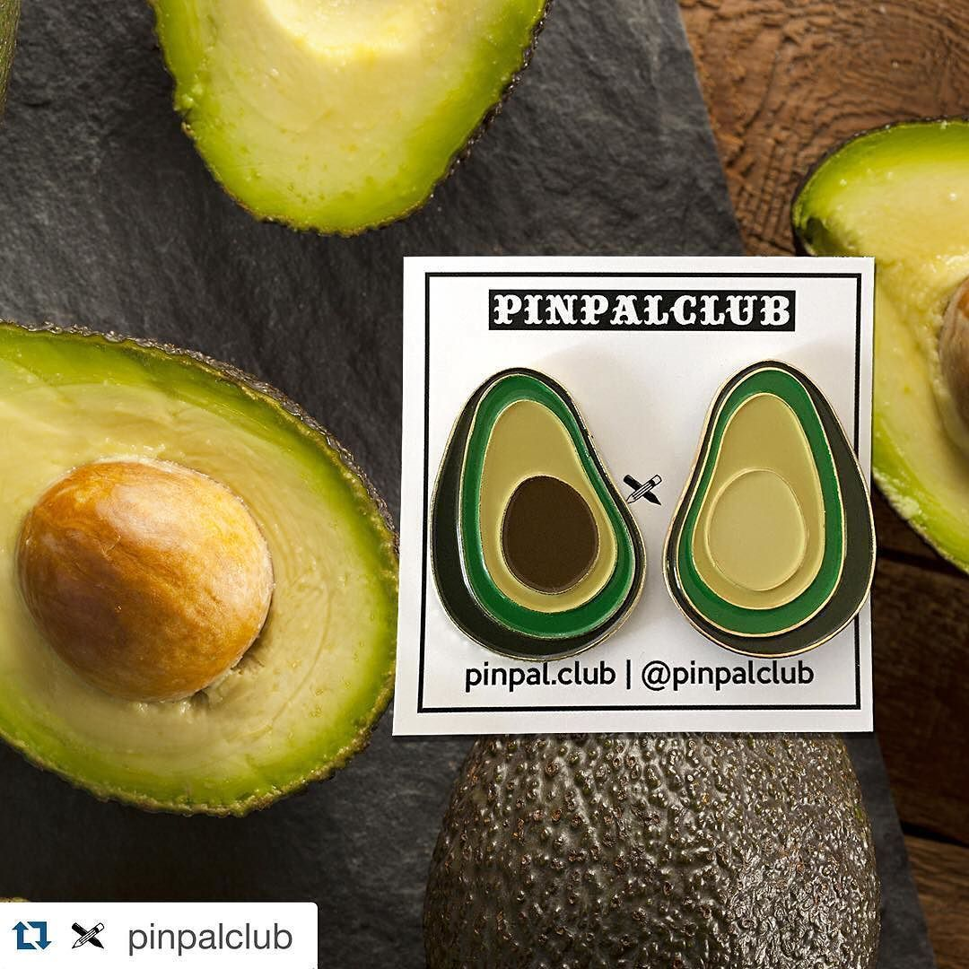 #Repost @pinpalclub  AVOCA-DOS 1.25 soft enamel pin set. Link in his bio.  #avocado #avocados #pin #lapelpin #softenamel