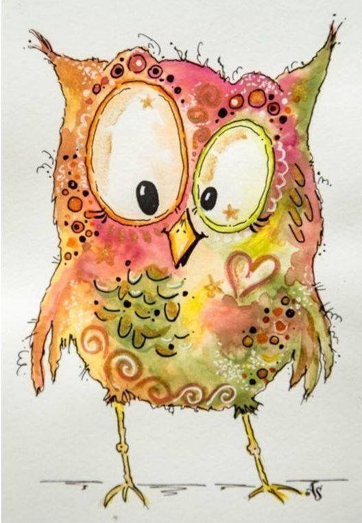 Hibou Aquarelle Recherche Google Peinture A L Aquarelle Aquarelle