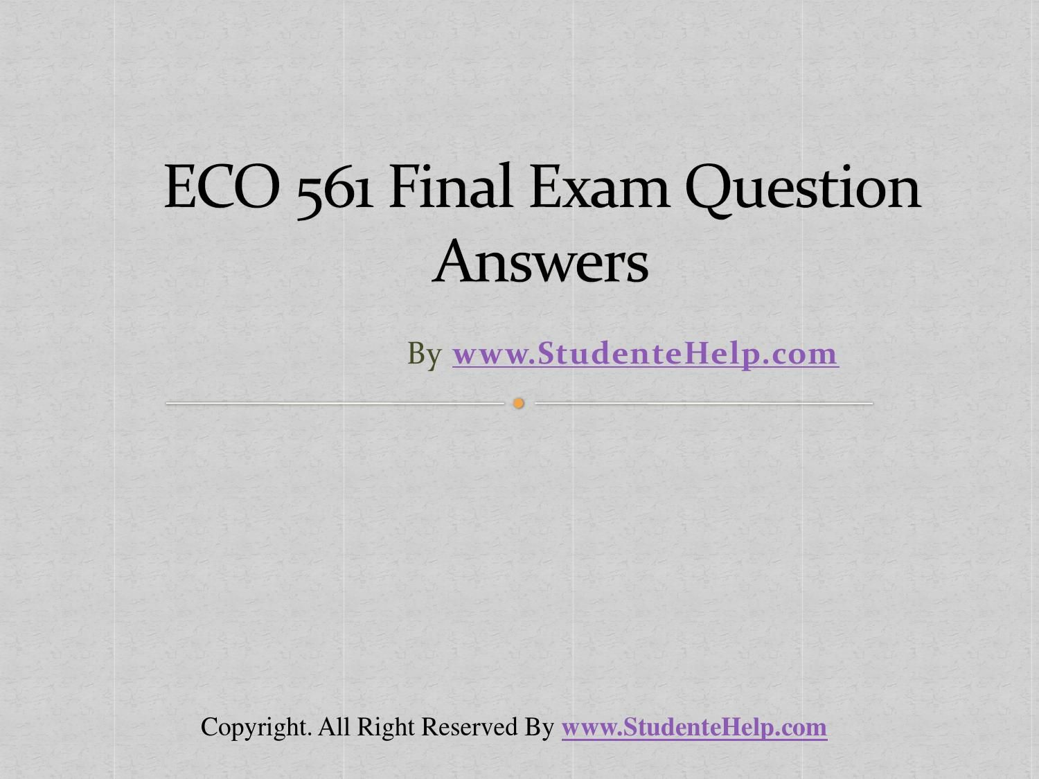 eco final exam latest uop final exam questions answers law