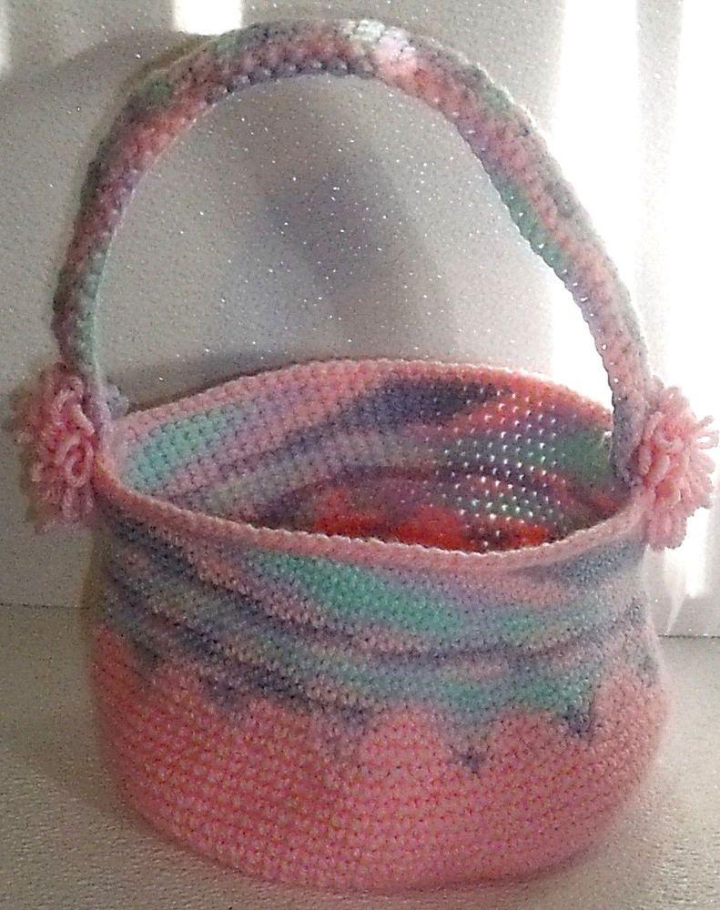 Crochet easter basket hand made in usa variegated pink 11 by 75 jaedasplaythings crochet easter basket hand made in usa variegated pink 11 negle Choice Image