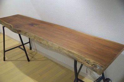 お手軽diy 木の天板とikeaの架台でカフェ風おしゃれデスクを作ったよ 大満足 Dress Code Ikea テーブル インテリア カフェ風