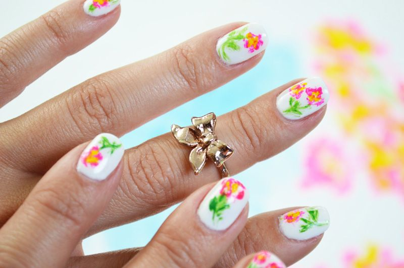 Diy Artist Paint Floral Nail Art Artist Painting Diy Manicure And