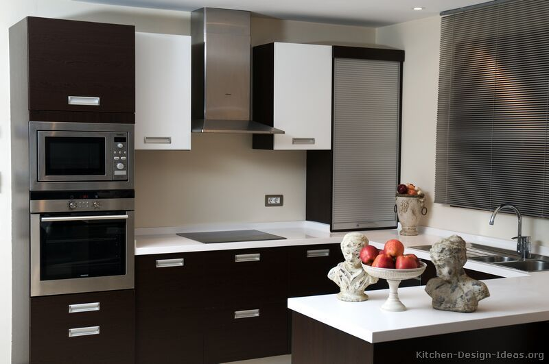 Pictures Of Kitchens Modern Two Tone Kitchen Cabinets Kitchen 48 Modern Black Kitchen Kitchen Design Kitchen Cabinet Design