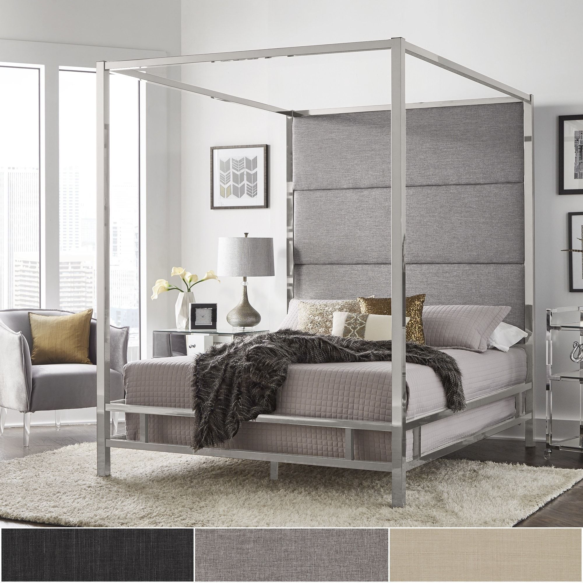 bed deluxe fb com shelter in upholstered up with grey dark close sofamania platform oslo headboard frame gr classic linen products