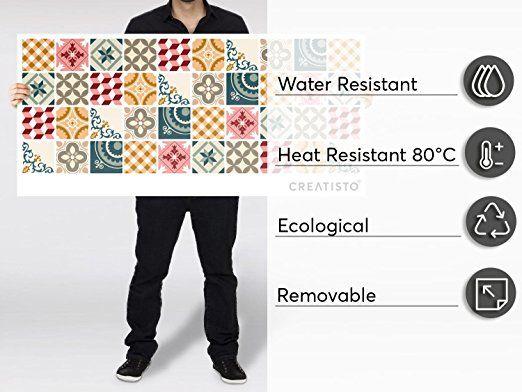 Carrelage mural adhésif - Vinyl autocollant PVC Stickers pour