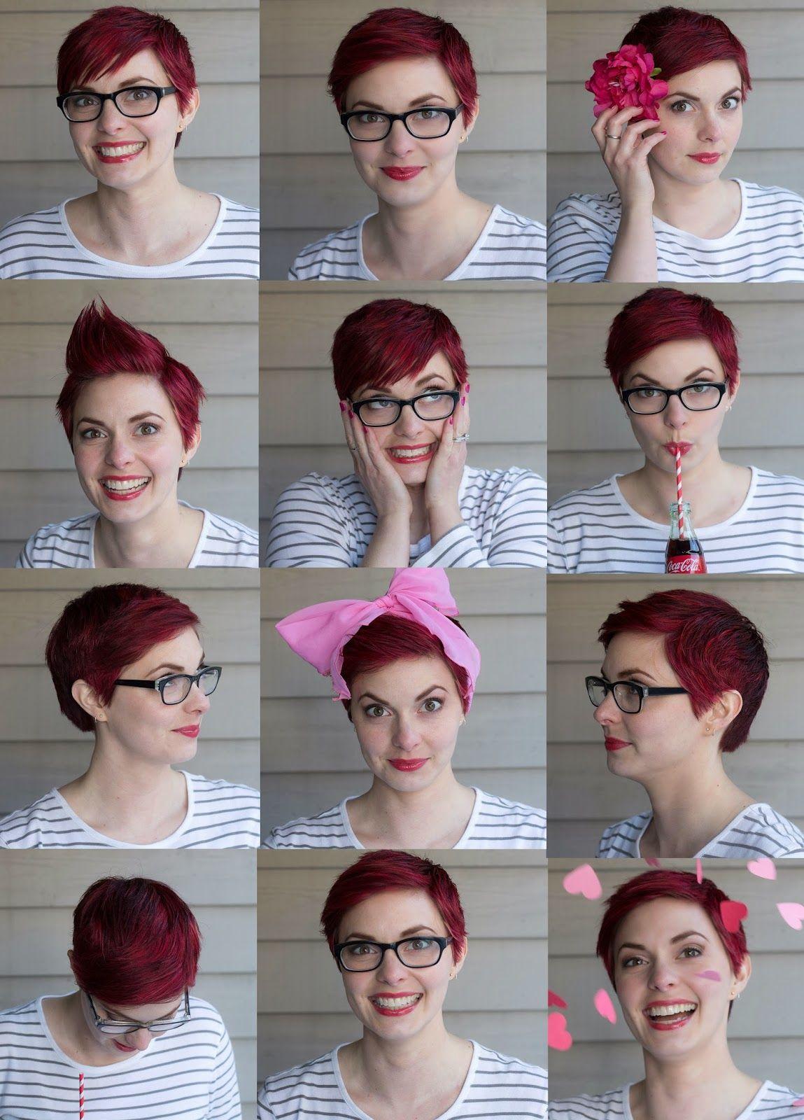 Red cropped pixie hair pixie u mohawk pinterest pixie hair