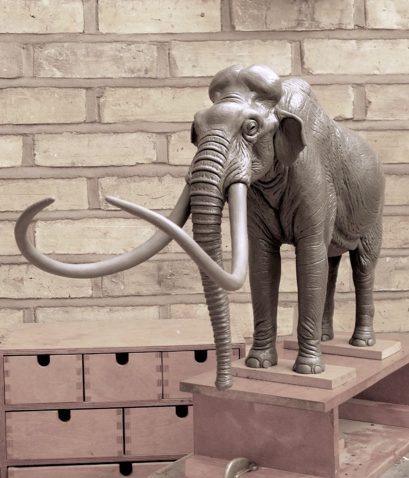 Columbian Mammoth. Sculpture Stage. Reconstruction For